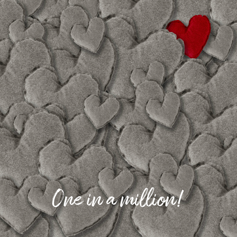 Grußkarten - Grußkarte Liebe One in a million